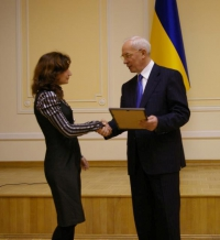 Наталье Гичкаленко выдан грант Президента Украины для одаренной молодежи